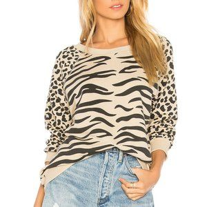 Wildfox Couture Easy Tiger Pullover Sweater Top